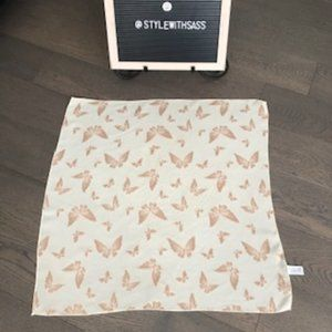 Echo Butterfly Square Scarf Cream + Bronze Size OS